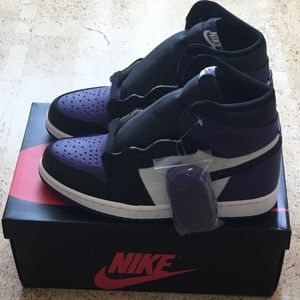 Nike Air Jordan 1 Retro High OG Court Purple Black